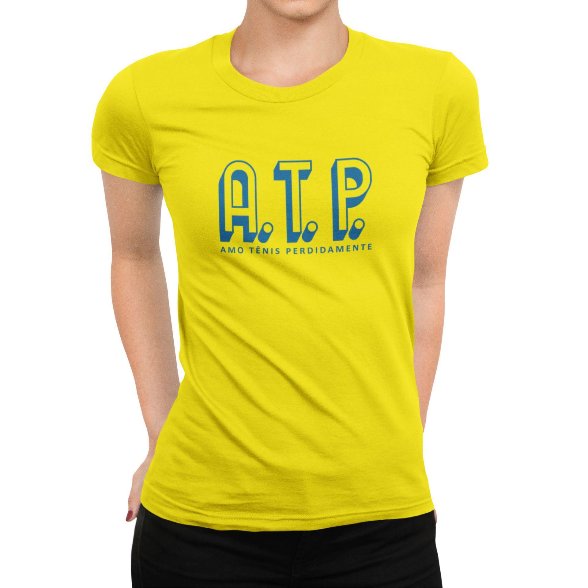 Camiseta ATP (AMO TÊNIS PERDIDAMENTE) >> Coleção 2019 >> FEMININA