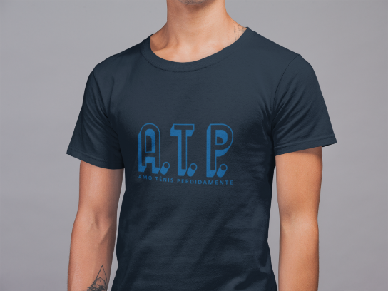 Camiseta ATP (AMO TÊNIS PERDIDAMENTE) >>  MASCULINA