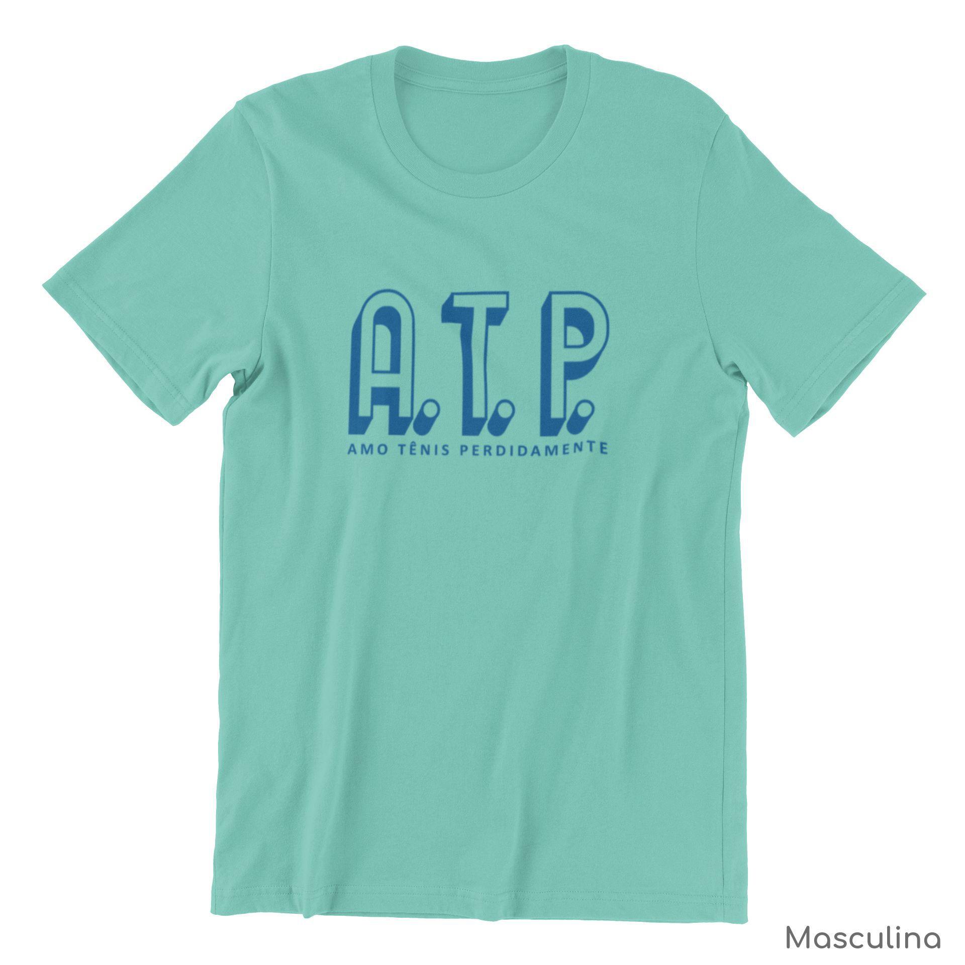 Camiseta ATP (AMO TÊNIS PERDIDAMENTE) >> Coleção 2019 >> MASCULINA