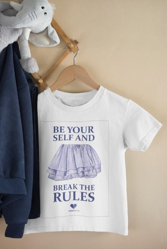 Camiseta BREAK THE RULES >>  2 a 14 anos