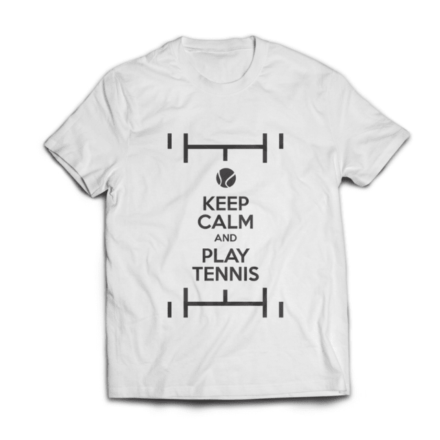 Camiseta Keep Calm & Play Tennis Branca