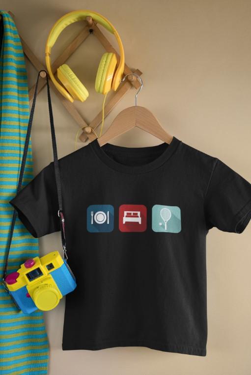 Camiseta COMER DORMIR E JOGAR >>  2 a 14 anos