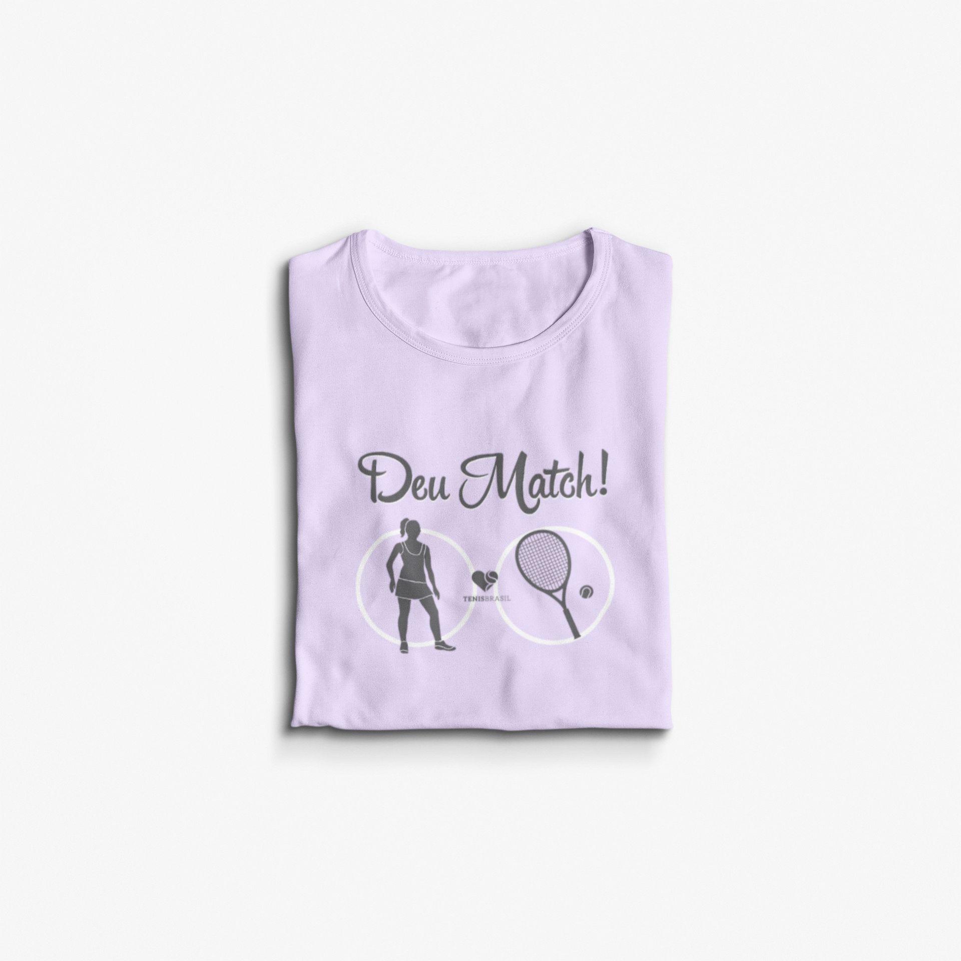 Camiseta DEU MATCH! >> Coleção 2019 >> FEMININA
