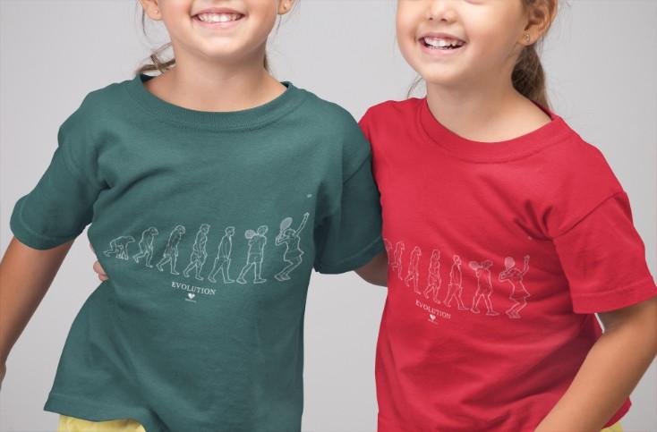Camiseta EVOLUTION menina >>  2 a 14 anos