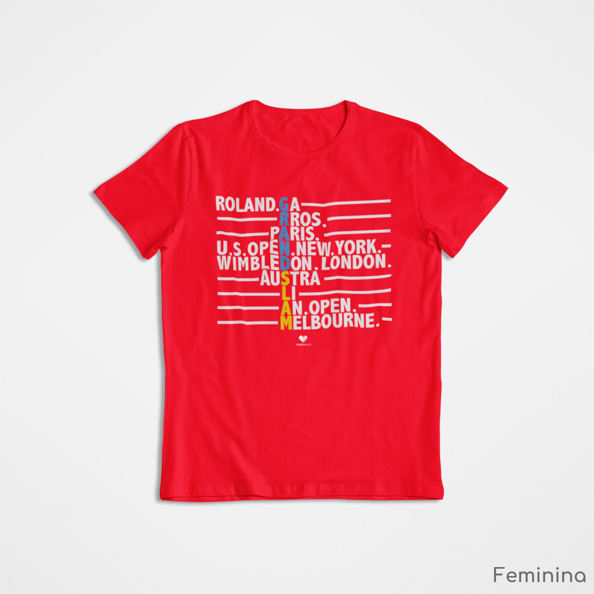 Camiseta GRAND SLAM ALL TYPE  >> FEMININA