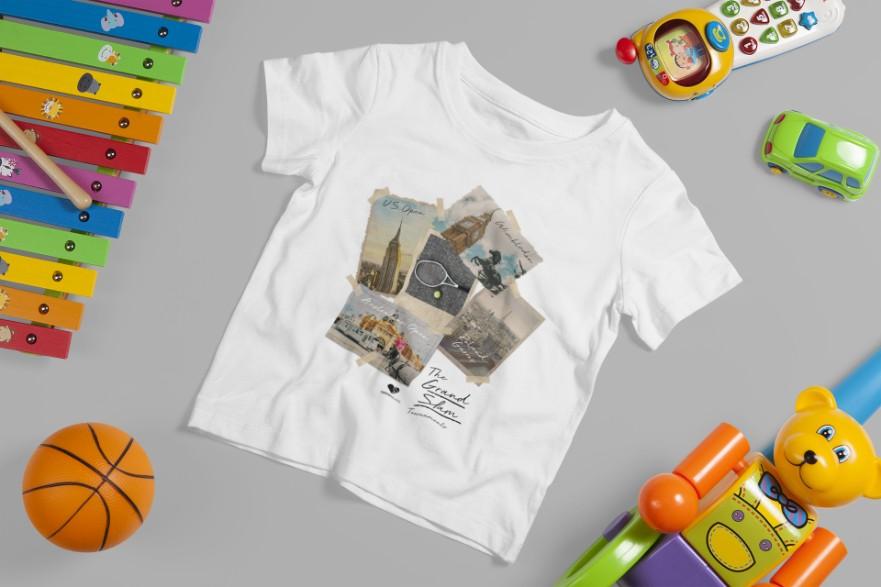 Camiseta GRAND SLAM FOTOS >>  2 a 14 anos