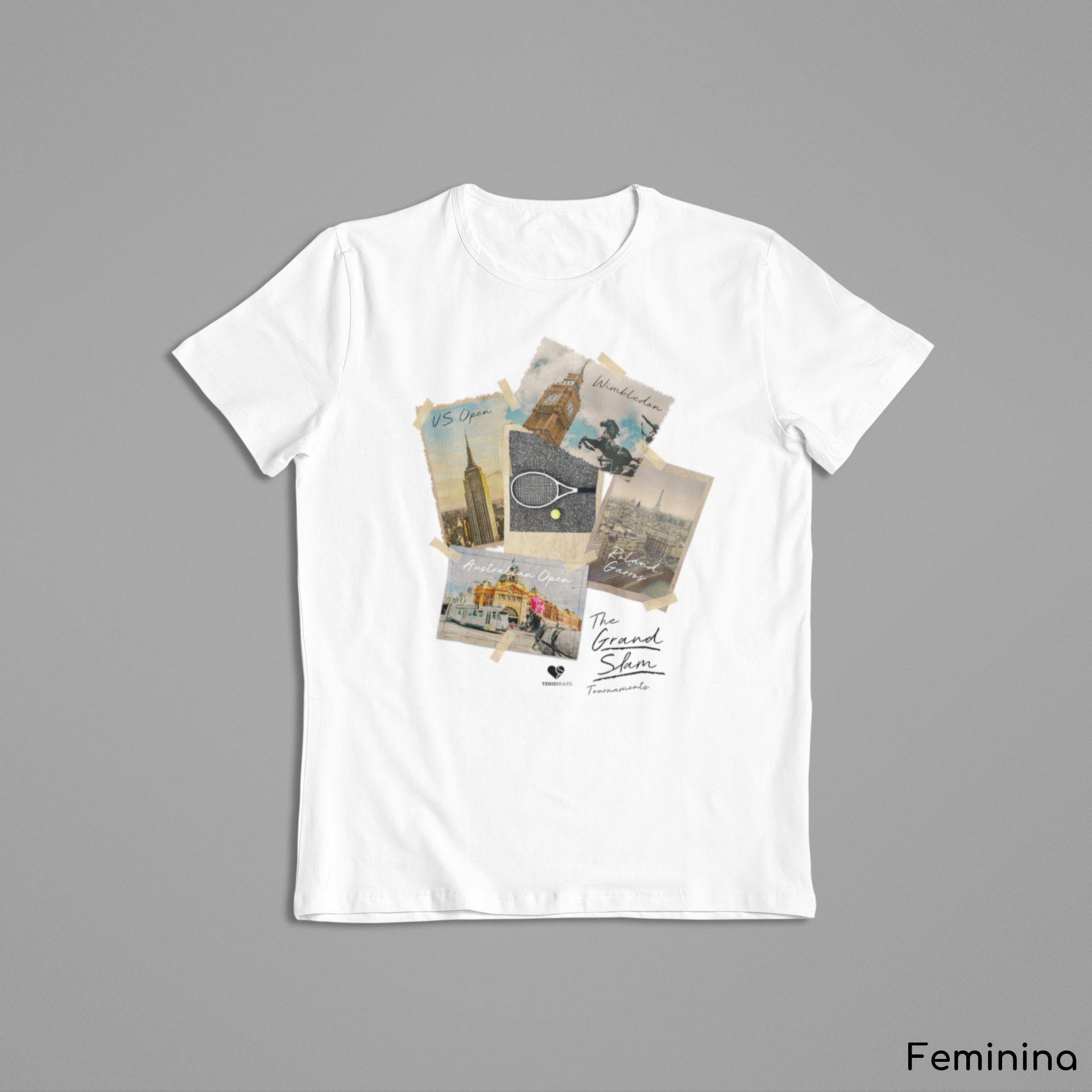 Camiseta GRAND SLAM FOTOS  >>  FEMININA