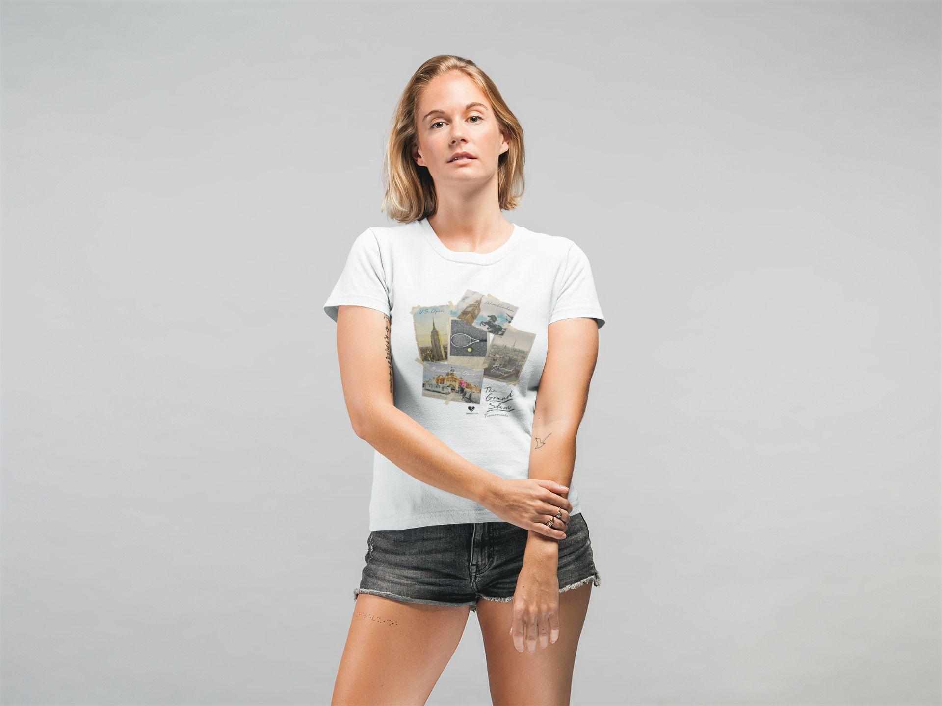 Camiseta GRAND SLAM FOTOS  >> Coleção 2019 >> FEMININA