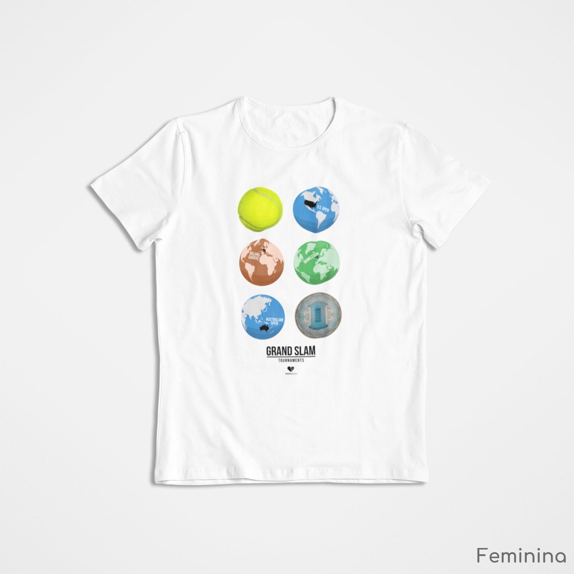 Camiseta GRAND SLAM GLOBES  >> Coleção 2019 >> FEMININA