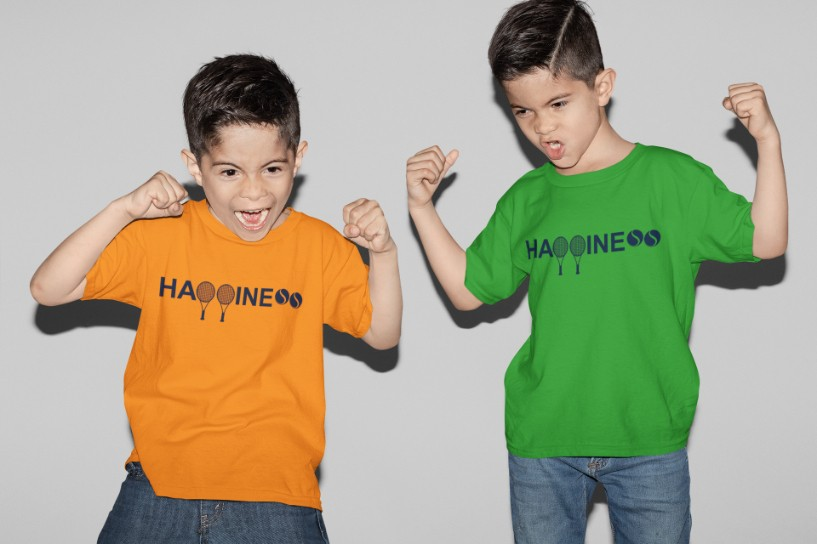 Camiseta HAPPINESS >>  2 a 14 anos