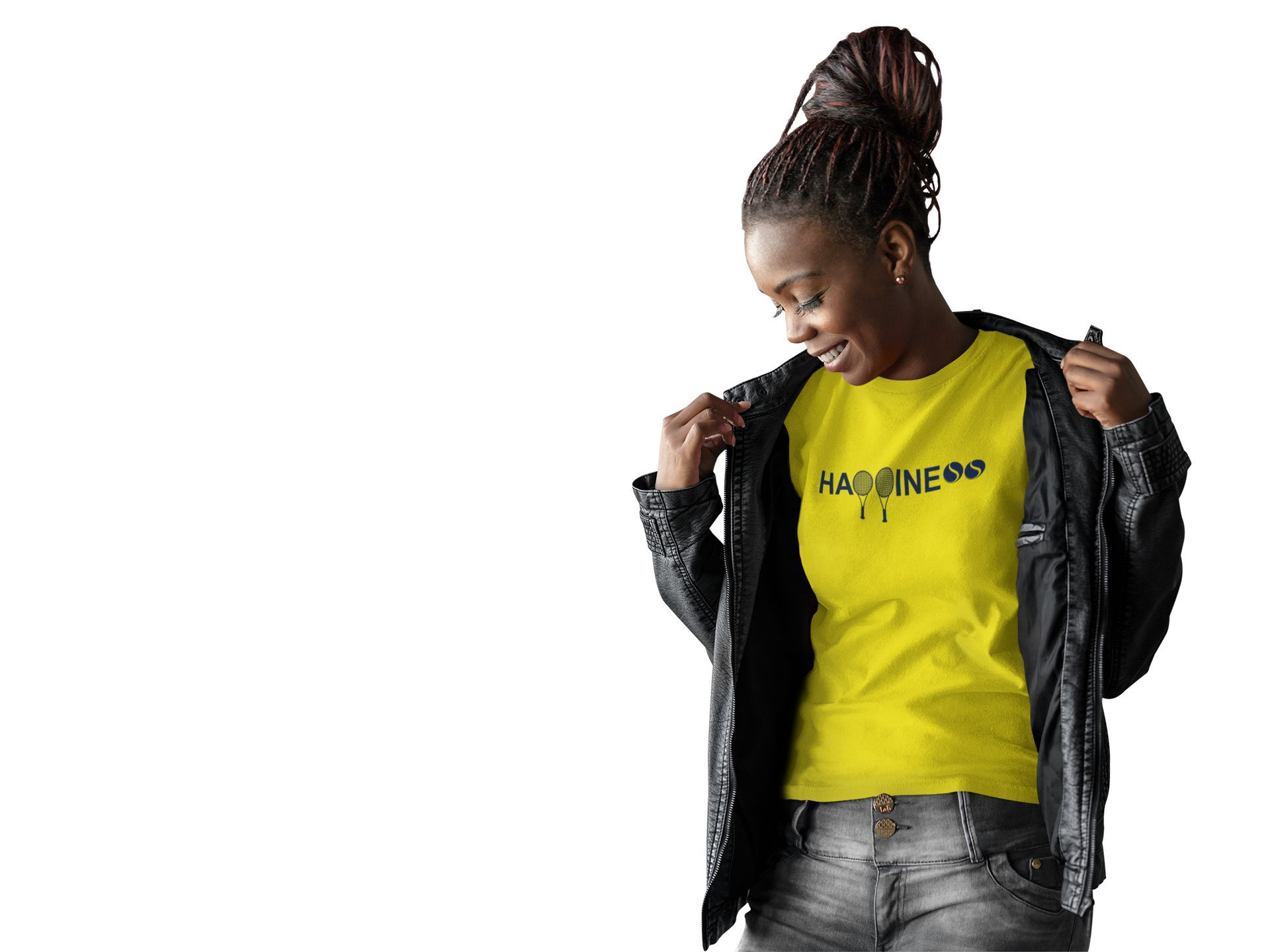 Camiseta HAPPINESS >> Coleção 2019 >> FEMININA