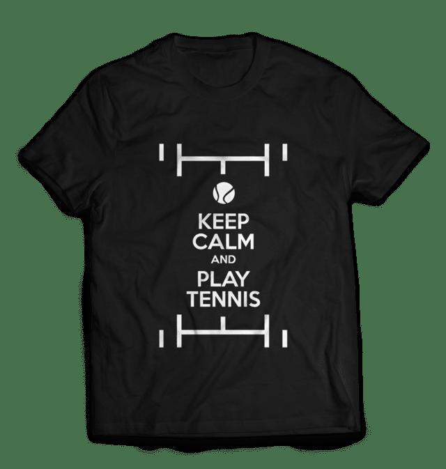 Camiseta Keep Calm and Play Tennis