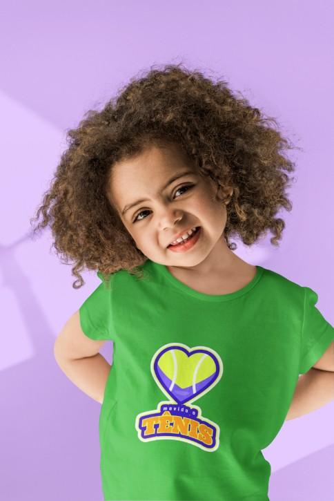 Camiseta MOVIDA A TÊNIS - menina >>  2 a 14 anos