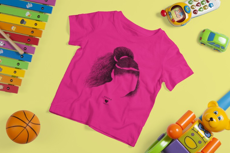 Camiseta PODER  >>  2 a 14 anos