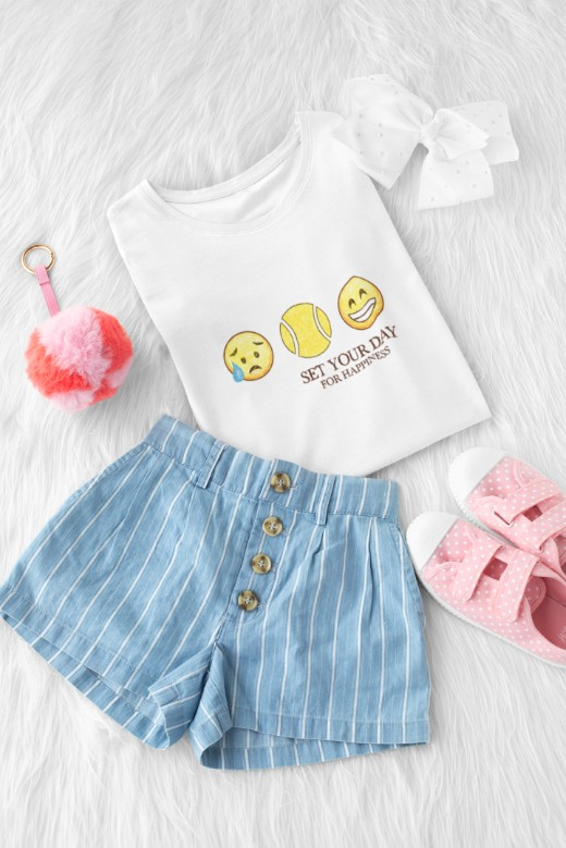 Camiseta SET FOR HAPPINESS >>  2 a 14 anos