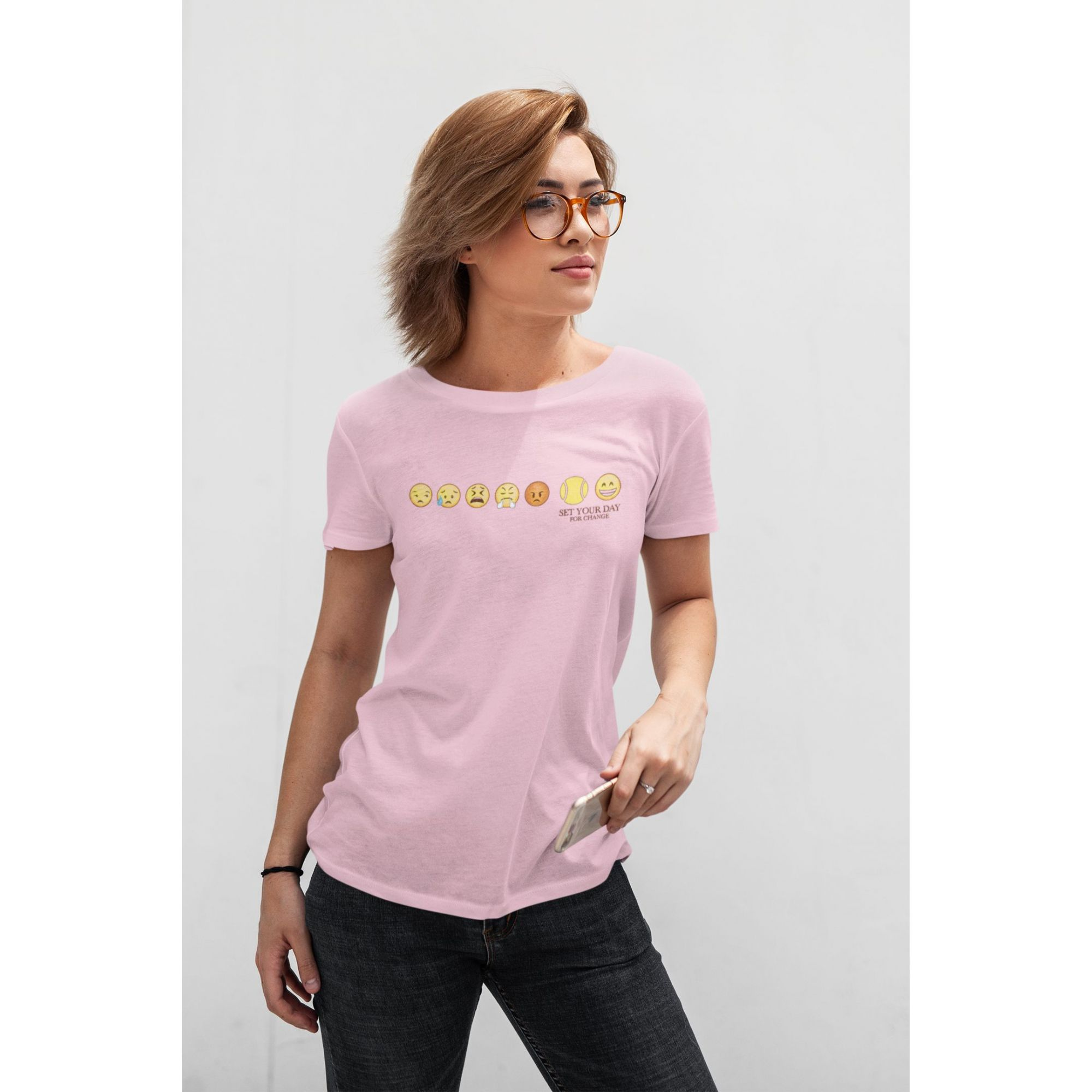 Camiseta SET YOUR DAY - FOR CHANGE >> Coleção 2019 >> FEMININA