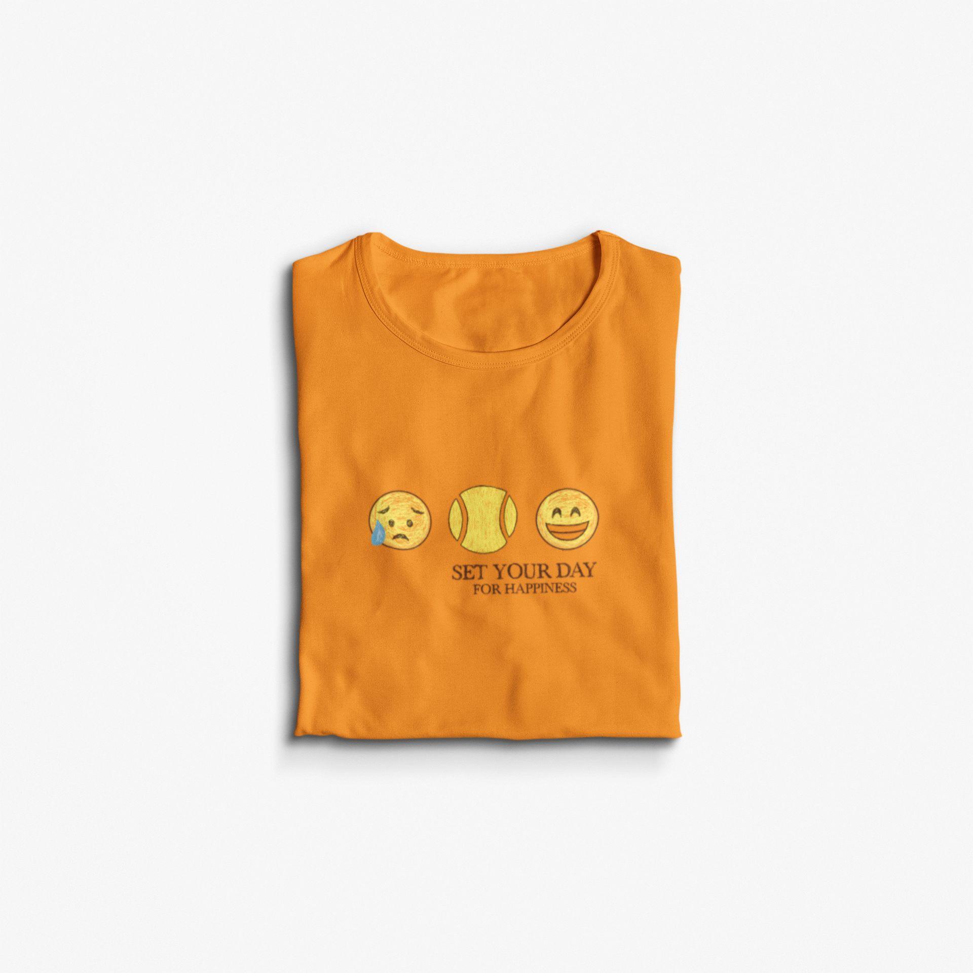 Camiseta SET YOUR DAY - FOR HAPPINESS  >> Coleção 2019 >> FEMININA