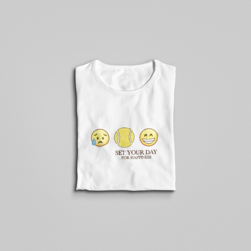 Camiseta SET YOUR DAY FOR HAPPINESS  >>  FEMININA
