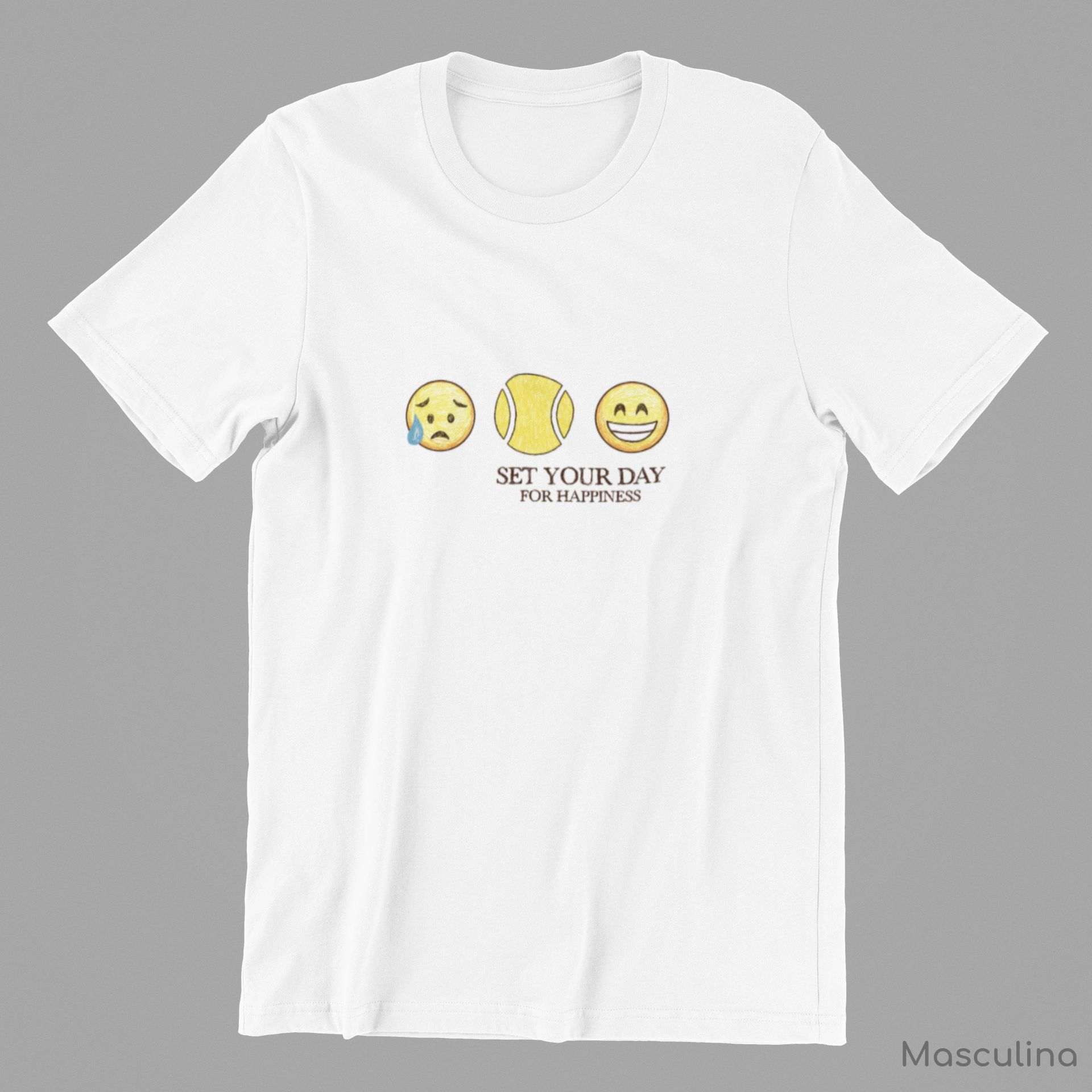 Camiseta SET YOUR DAY FOR HAPPINESS  >> MASCULINA