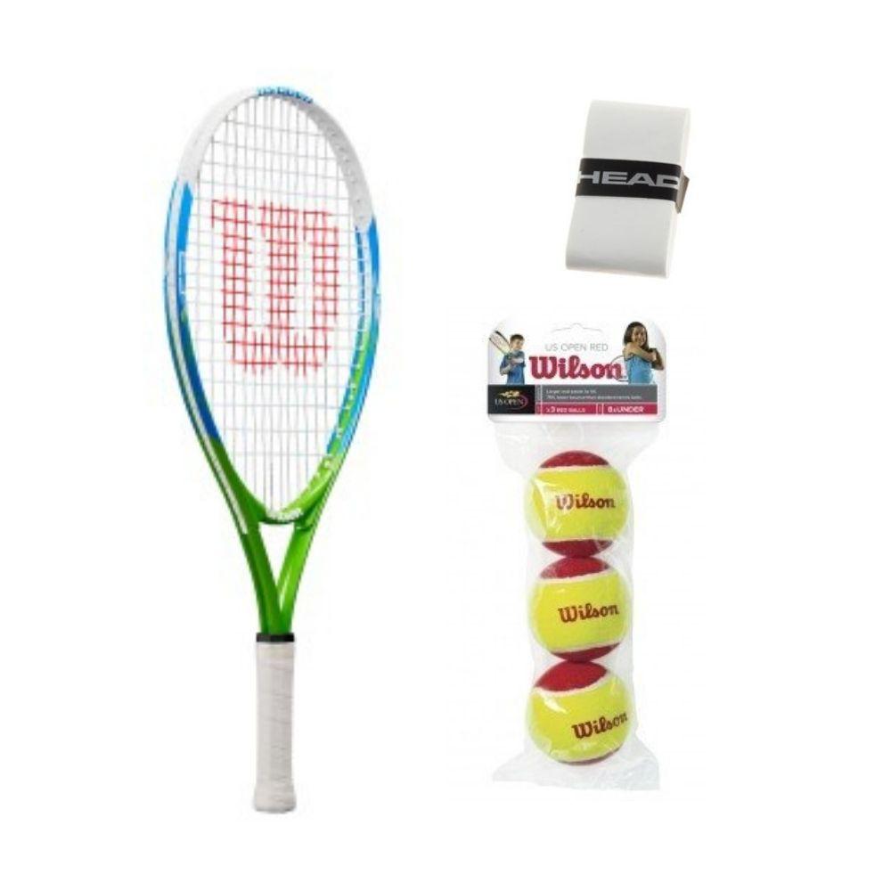 Kit Infantil Para Tênis - Raquete Wilson US Open 23 (6 a 8 anos)