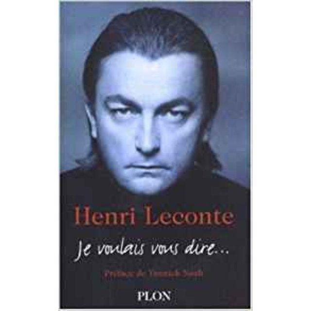 Livro  Je Voulais Vous Dire - Relato de Henri Leconte (em francês)