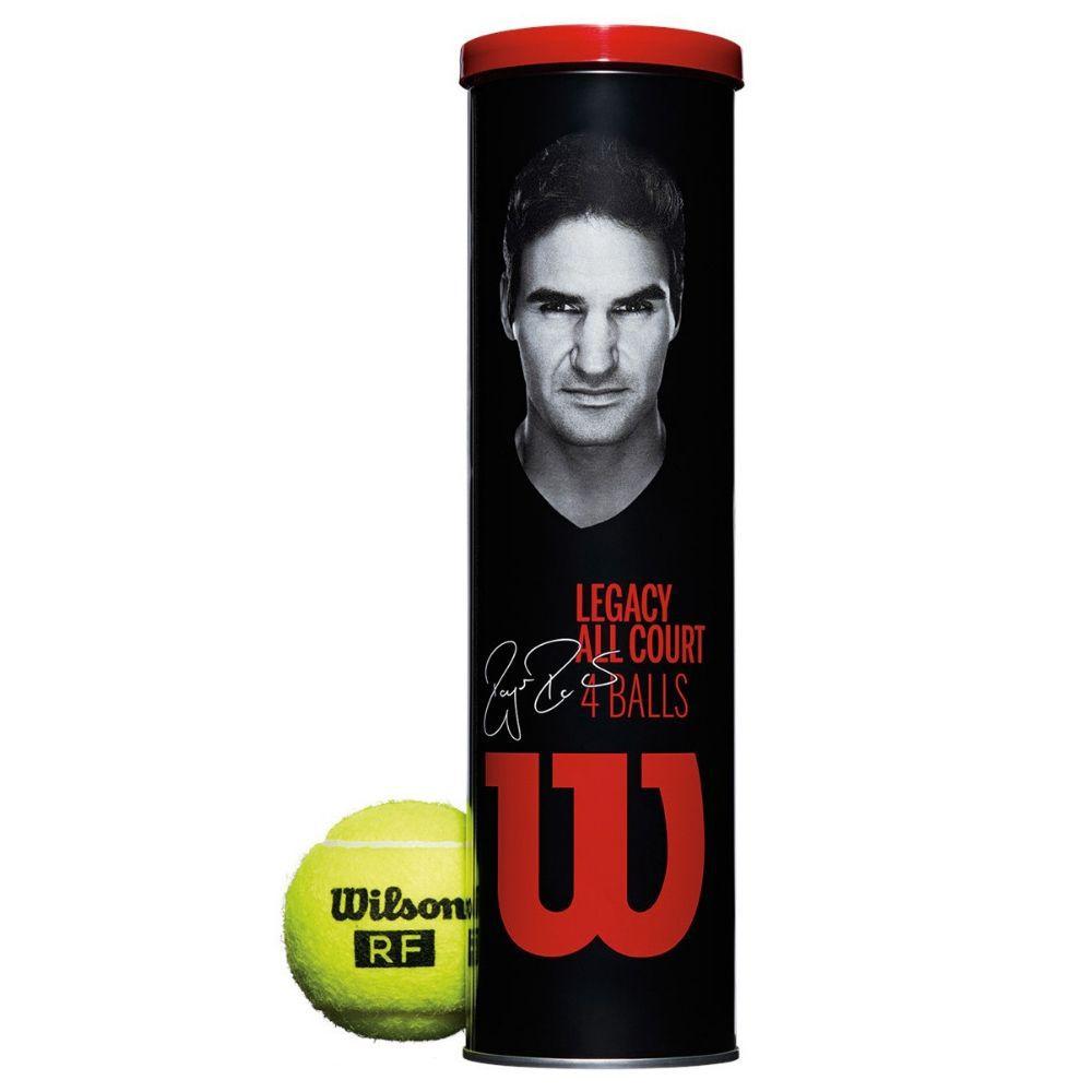 Bolas de Tênis Wilson RF Legacy Ball All Court - Pack com 3 tubos