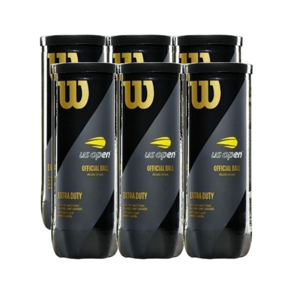 Bolas Wilson US Open Extra Duty - Pack com 6 Tubos