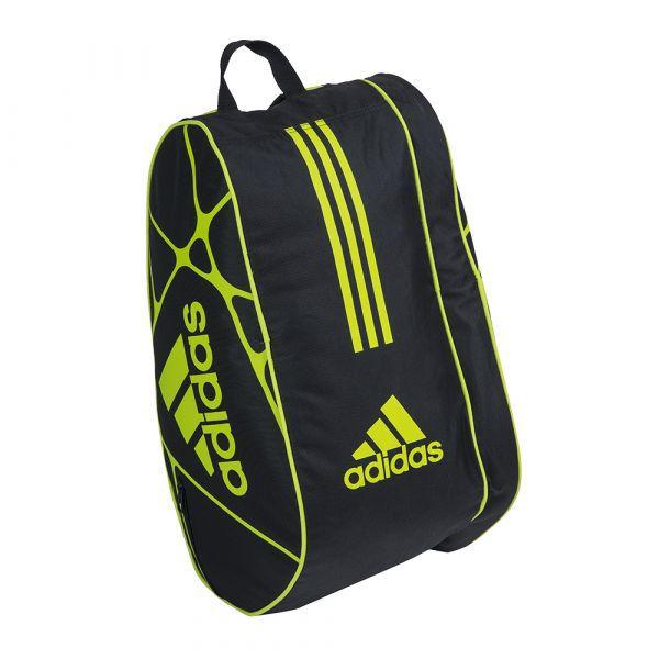 Raqueteira de Beach Tennis Adidas Control 1.9 x7 - Preta com Verde Limão