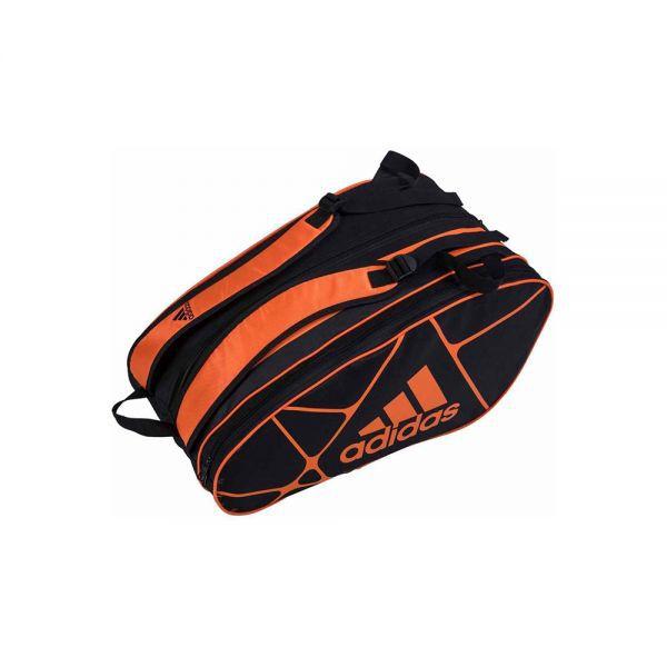 Raqueteira de Beach Tennis Adidas Control 1.9 x7 - Preta com Laranja