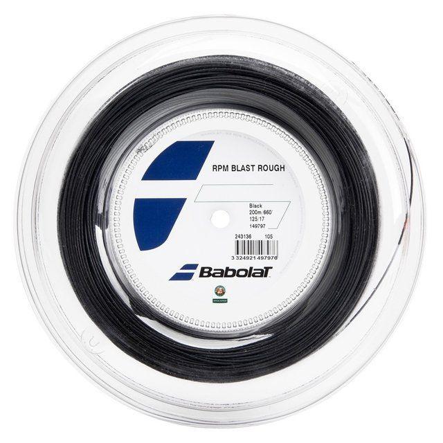 Rolo de Corda Babolat RPM BLAST ROUGH 200MM PRETO 1.25mm/17L