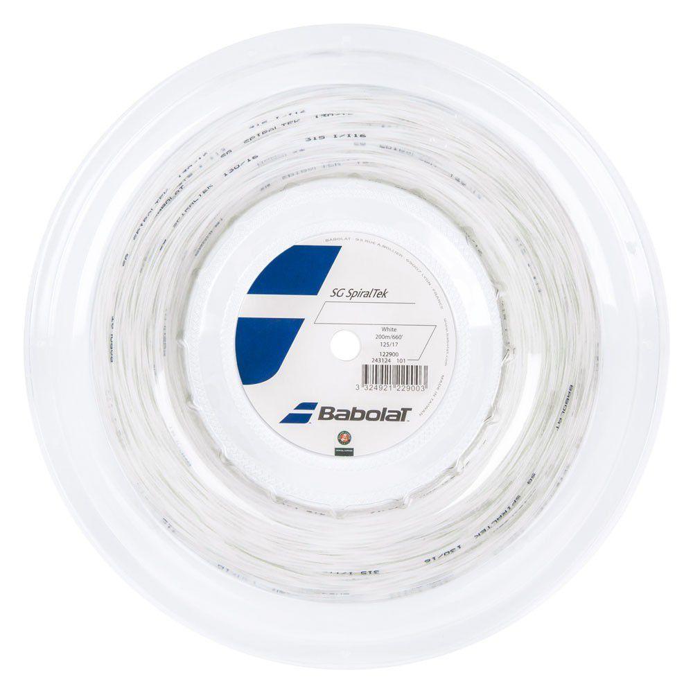 Rolo de Corda Babolat SG Spiraltek 1.30MM Branca - Rolo com 200 metros