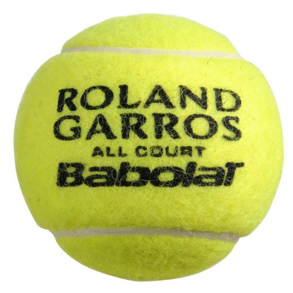 Tubo de Bolas de Tênis Babolat Roland Garros All Court