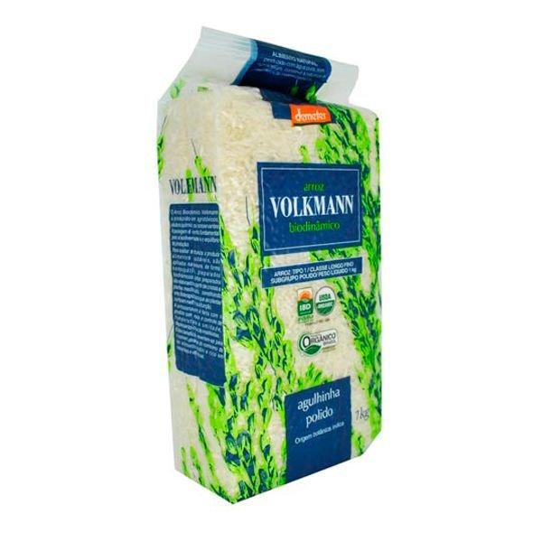 Arroz Agulhinha Polido Orgânico Biodinâmico 1kg - VOLKMANN