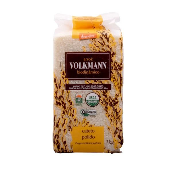 Arroz Cateto Polido Orgânico Biodinâmico 1kg - VOLKMANN