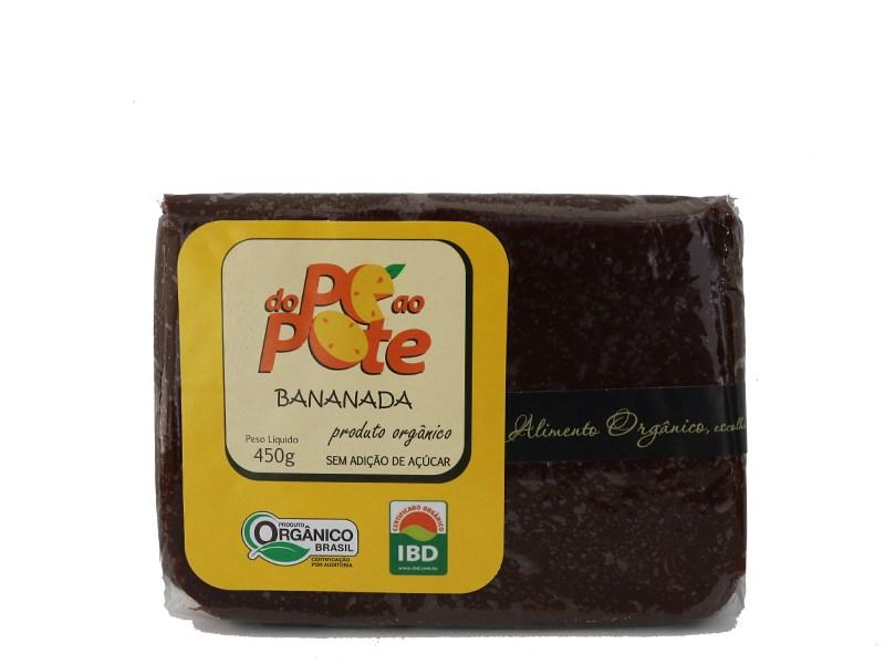 Bananada Orgânica s/ Açúcar 450g - DO PÉ AO POTE