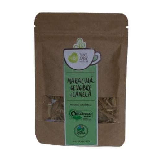 Chá de Maracujá, Gengibre e Canela Orgânico 15g - TERRA AMOR