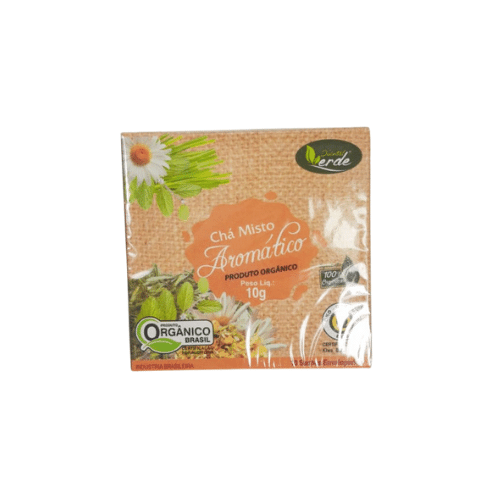 Chá Misto Aromático (Camomila, Capim cidreira e Melissão) Orgânico 10 sachês - QUINTAL VERDE