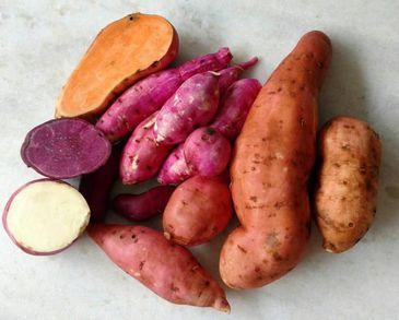 Batata Doce Mix (Polpa Roxa e Laranja) Orgânica - 500g