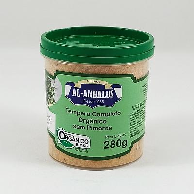 Tempero Completo s/ Pimenta Orgânico 280g - AL ANDALUS