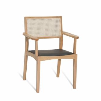 Cadeira Francesca com braço estofada