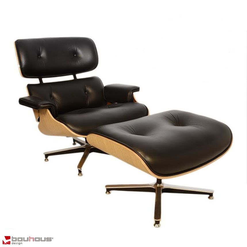 Conjunto Charles Eames - Couro Natural