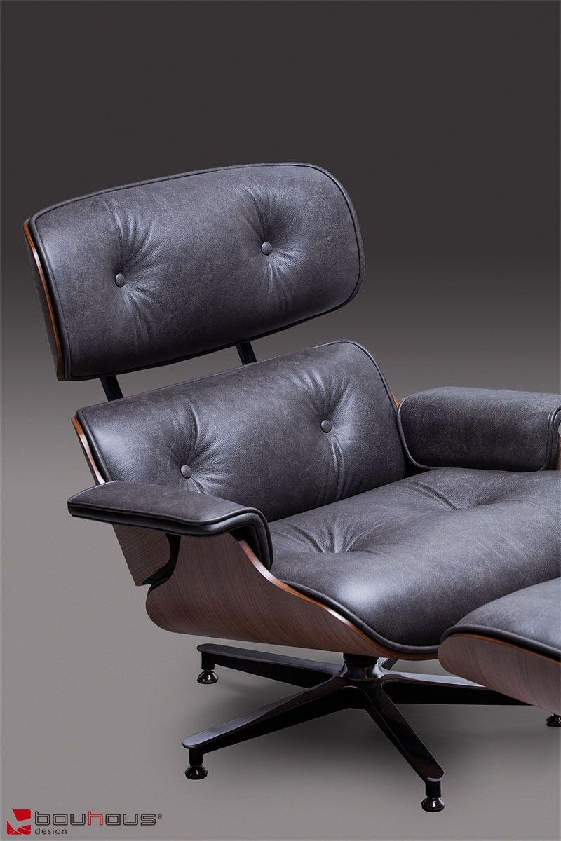 Conjunto Charles Eames - Couro Natural