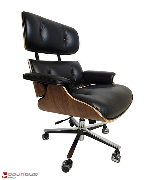 Poltrona Charles Eames Office - Couro Natural