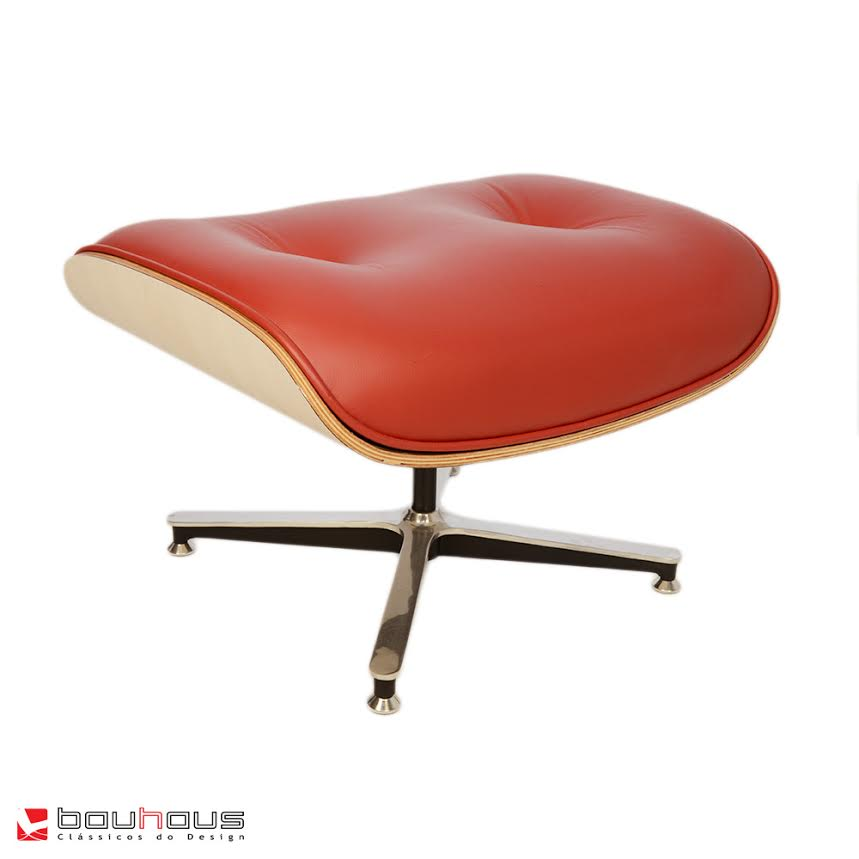 Puff Charles Eames - Couro Natural