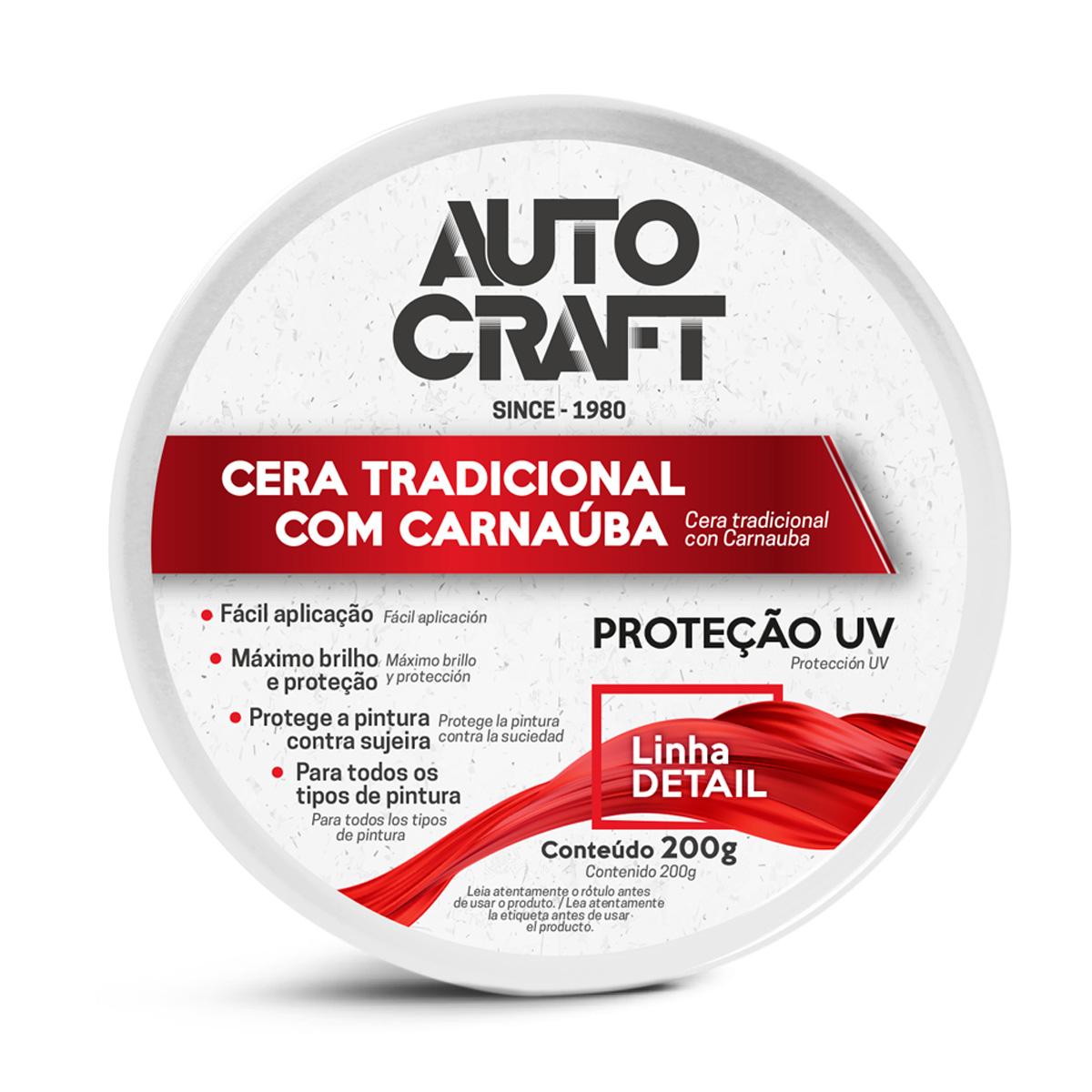Cera Pasta Autocraft Carro Moto Van Polimento Proauto - 200g