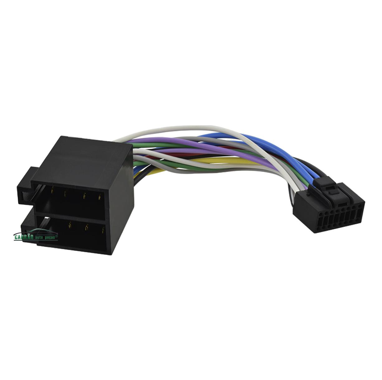 Chicote Conector Plug Som Automotivo Pionner 3280 Golfinho
