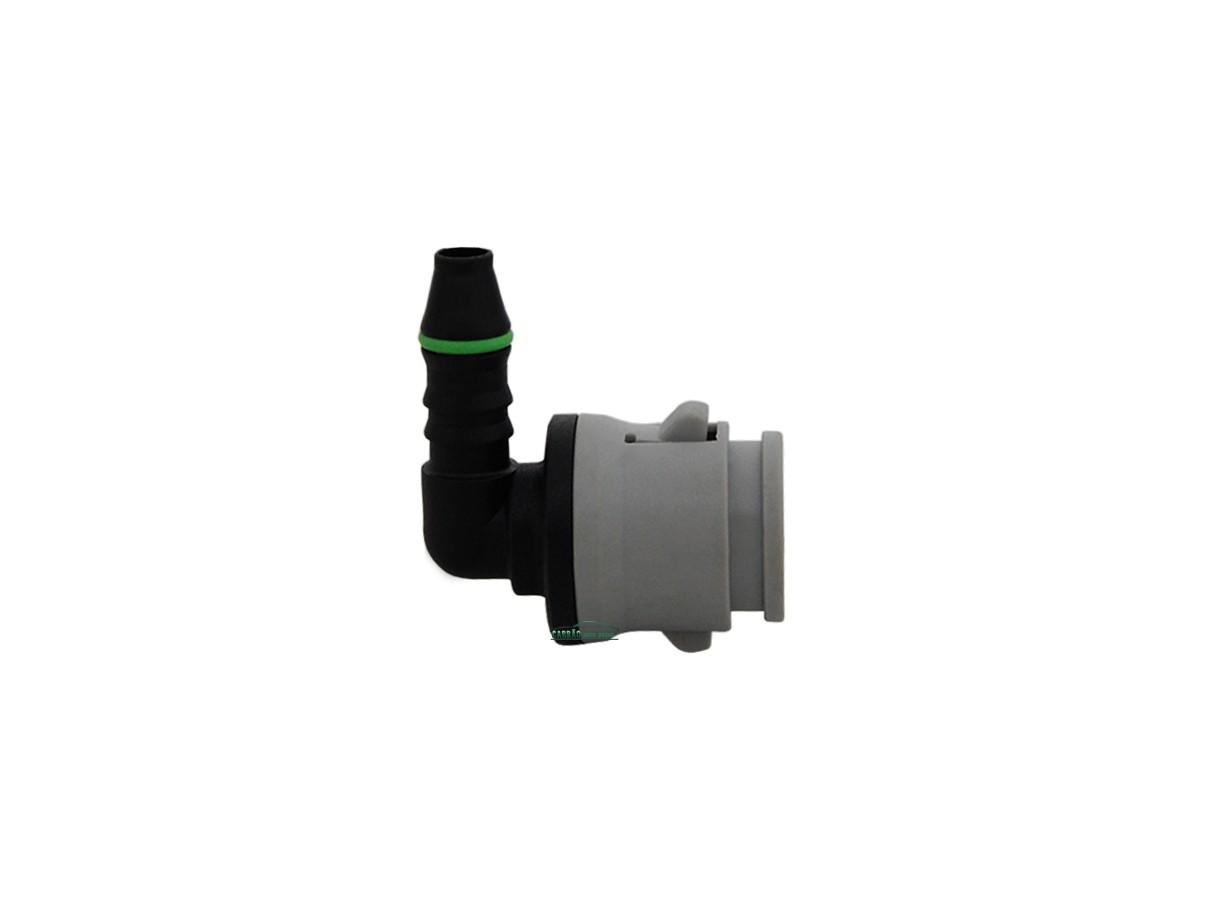 Conector Tubos Flautas Combustível Fiat GM 90º Cinza