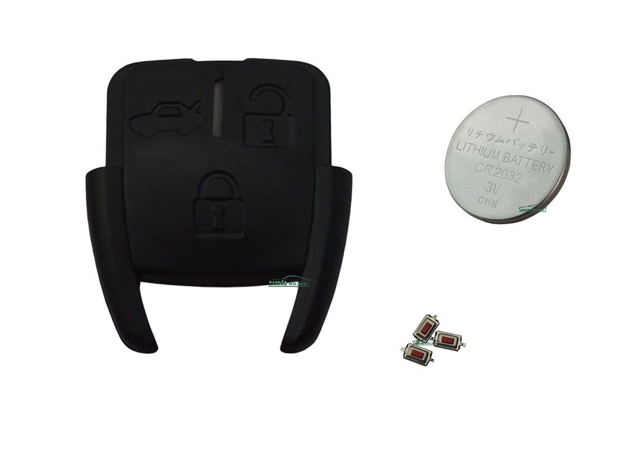 Kit Reparo do Telecomando Astra, Corsa, Vectra, Zafira, S10 Modelo 3 Botões