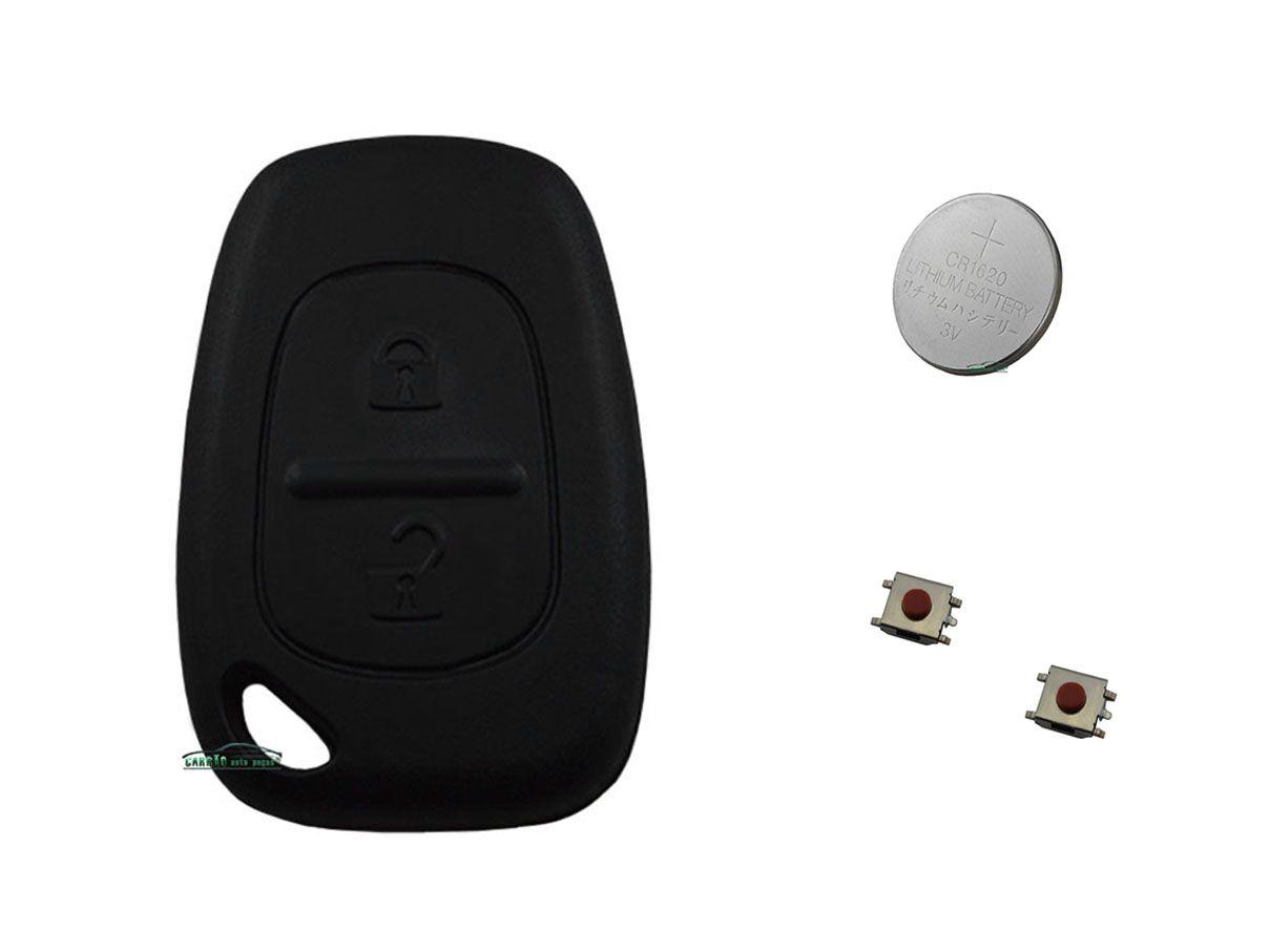 Kit Reparo do Telecomando da Chave Clio Todos Modelo 2 Botões