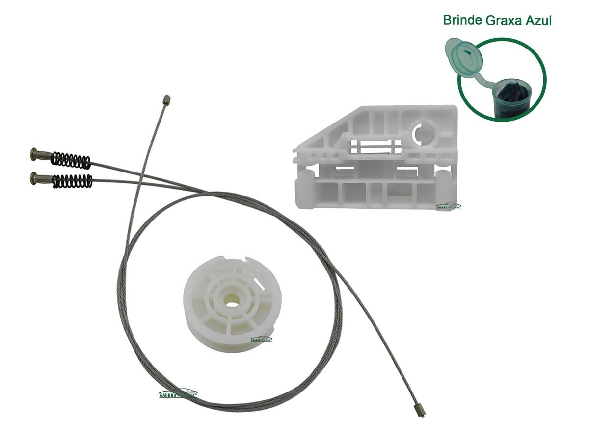 Kit Reparo Máquina de Vidro Elétrico Com Arraste Citroen C3 Traseiro Direito